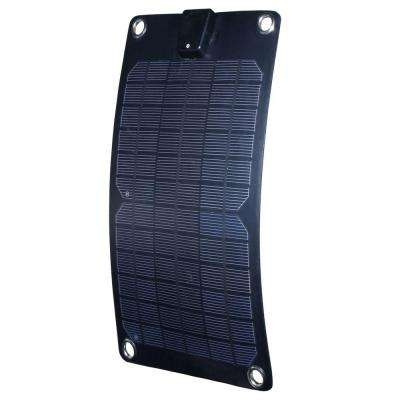 5-Watt Semi-Flex Monocrystalline Solar Panel and 12-Volt Battery Maintainer
