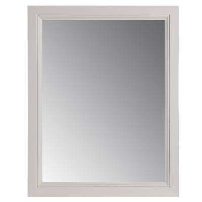 Valencia 22 in. x 27 in. Single Framed Wall Mirror in Cream