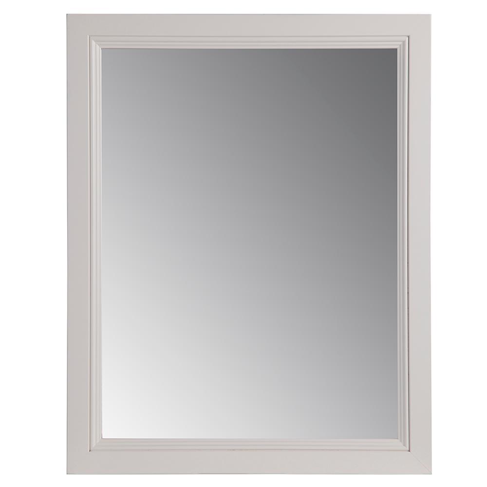Valencia 22 in. W x 27 in. H Single Framed Wall Mirror in Cream