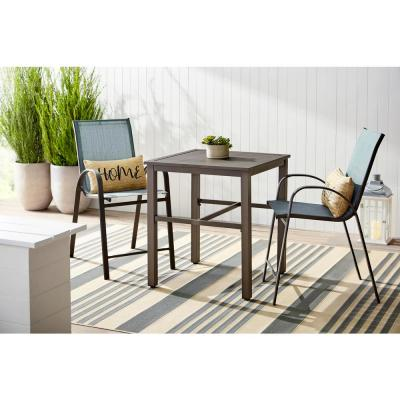 Mix and Match Brown Steel Outdoor Patio Bistro Table
