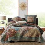 The Company Store Sarah Multicolored Floral Cotton Patchwork Full/Queen Quilt