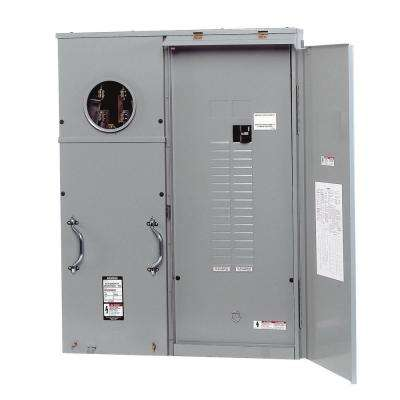 400 Amp 30-Space 42-Circuit Surface Mount Underground Fed Meter Load Center Combination