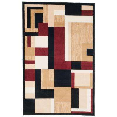 Modern Block Black 5 ft. x 8 ft. Area Rug