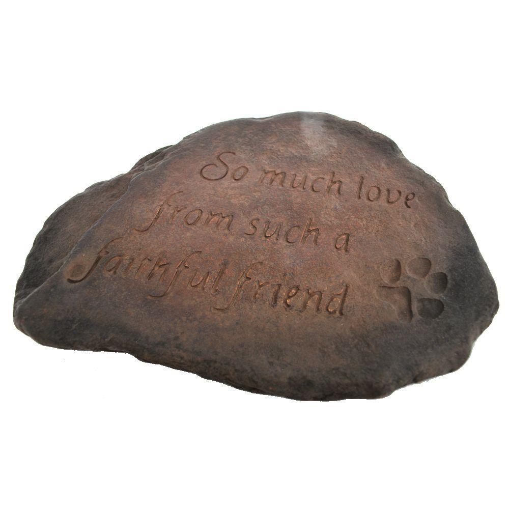 Faithfull Friend Decorative Stone Dark Walnut
