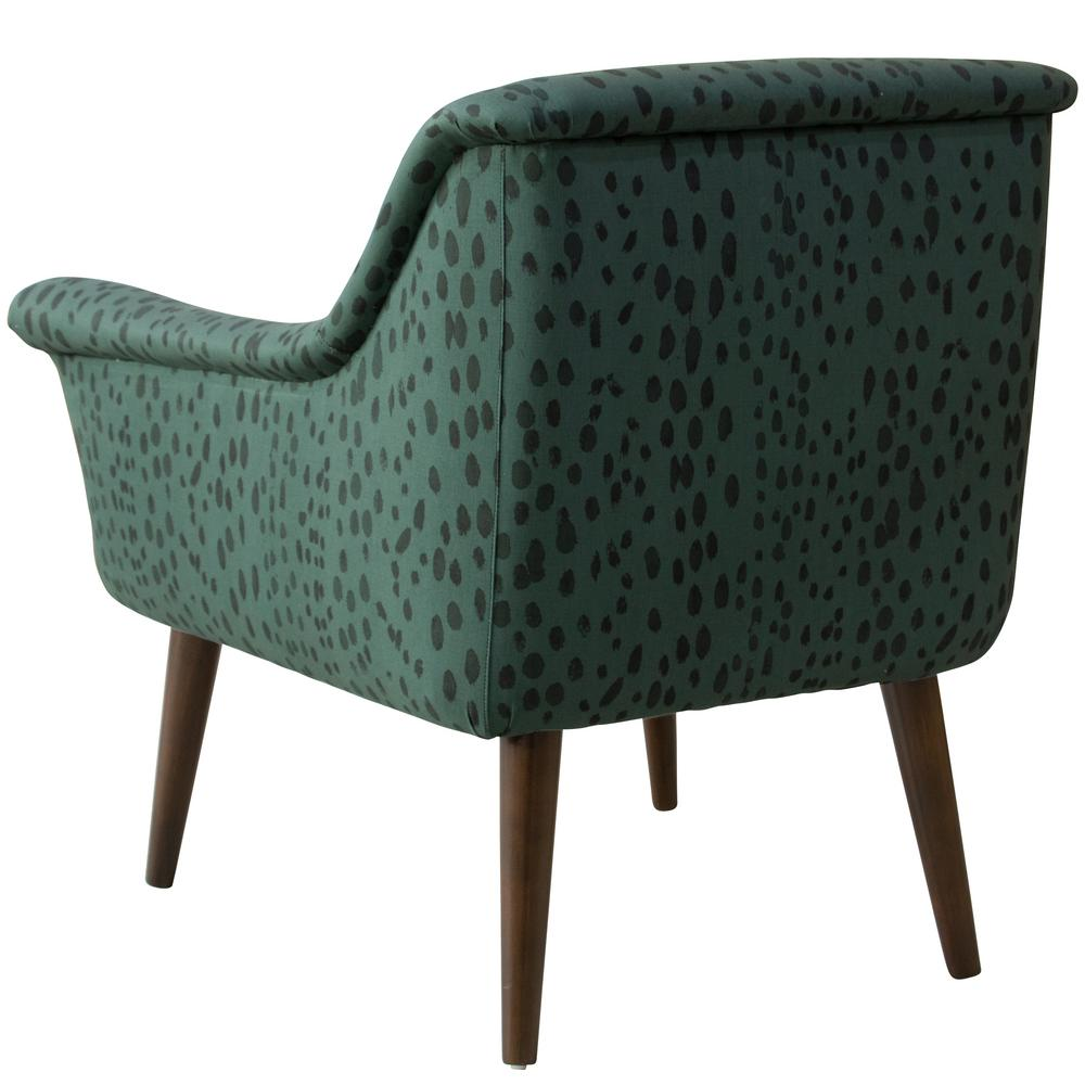 Linen Leopard Emerald Modern Armchair By Skyline Furniture
