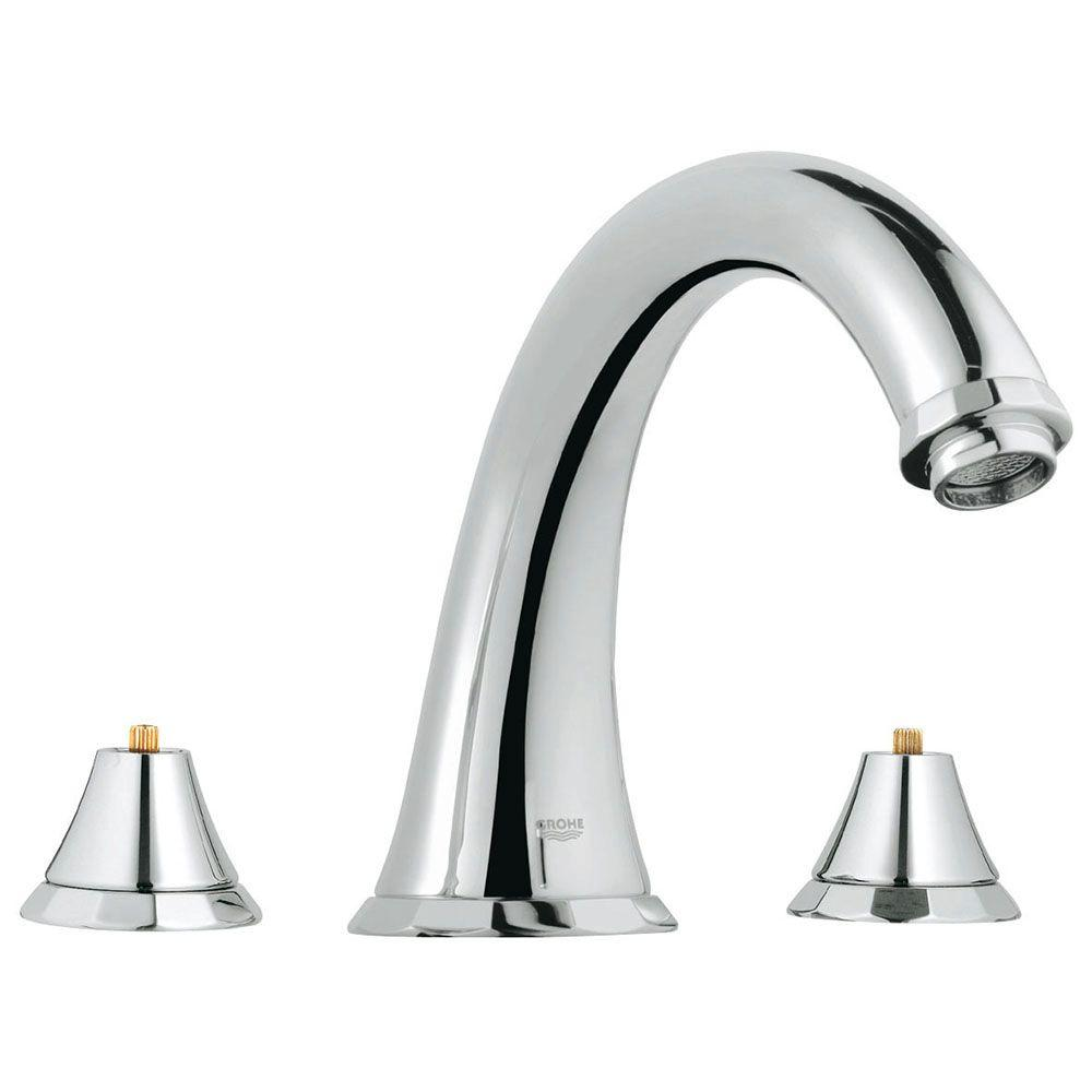Kensington 2-Handle Deck-Mount Roman Tub Faucet in StarLight Chrome