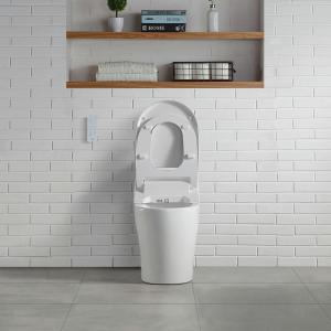 OVE Decors Electric Bidet Seat for Elongated Shape Toilet in White by OVE Decors