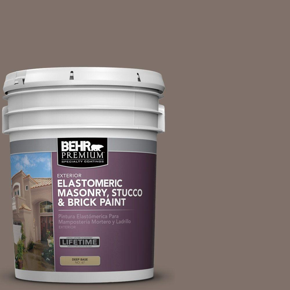 BEHR PREMIUM 5 gal. #MS-86 Dusty Brown Elastomeric Masonry, Stucco and Brick Exterior Paint
