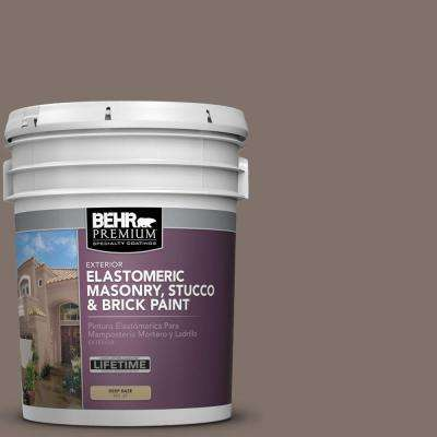 5 gal. #MS-86 Dusty Brown Elastomeric Masonry, Stucco and Brick Exterior Paint