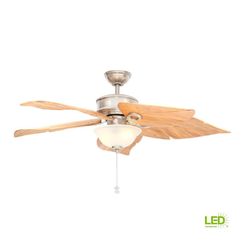 Hampton Bay Costa Mesa 56 In Led Indoor Outdoor Brushed Nickel Ceiling Fan Wiring Schematic Diagram With