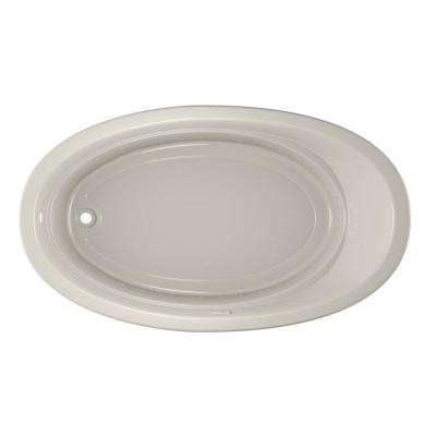 RIVA PURE AIR 72 in. x 42 in. Acrylic Left-Hand Drain Oval Drop-In Air Bath Bathtub in Oyster
