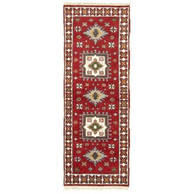 Hand-Knotted Kazak Royal III Red 2 ft. 4 in. x 6 ft. Runner Rug