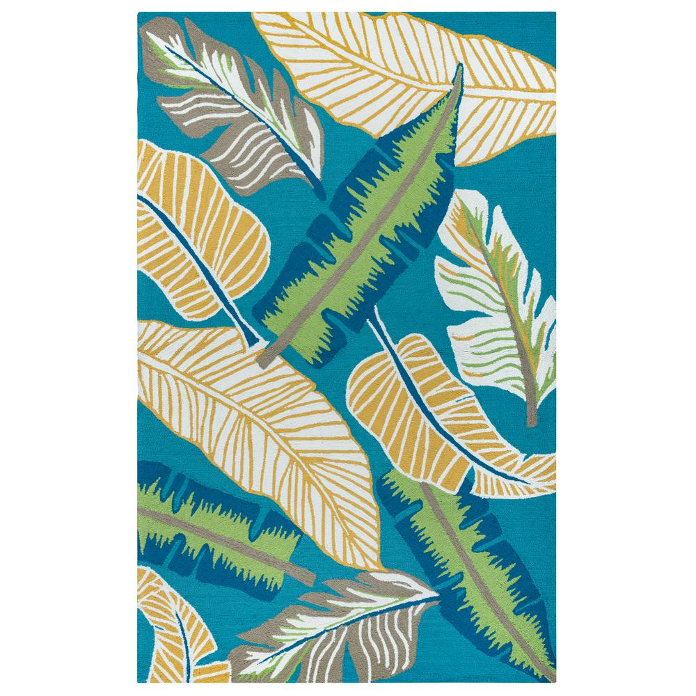 Rizzy Home Azzura Hill Dark Teal Floral 8 Ft. X 10 Ft