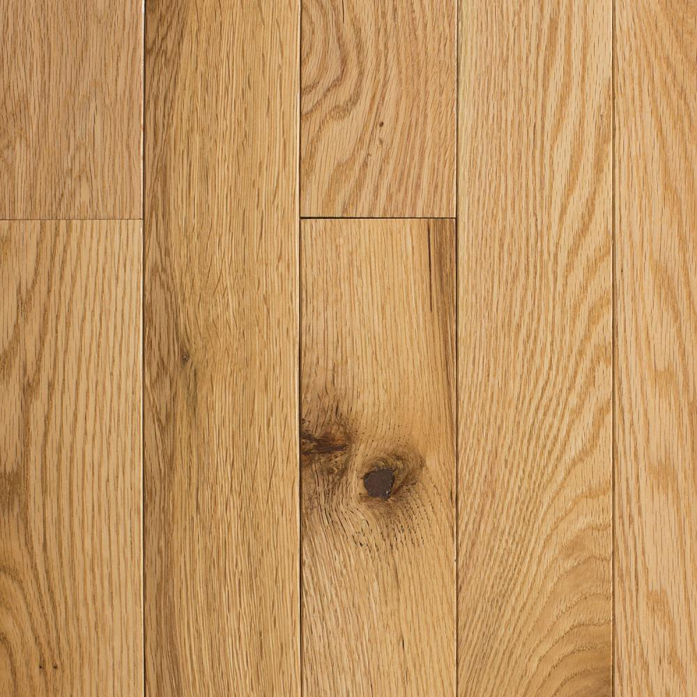 Blue ridge hardwood flooring red oak natural 3 4 in thick for Solid hardwood flooring
