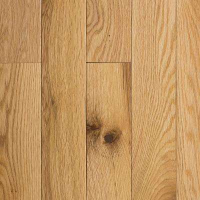 Red Oak Natural 3/4 in  Thick x 2-1/4 in  Wide x Random Length Solid  Hardwood Flooring (18 sq  ft  / case)