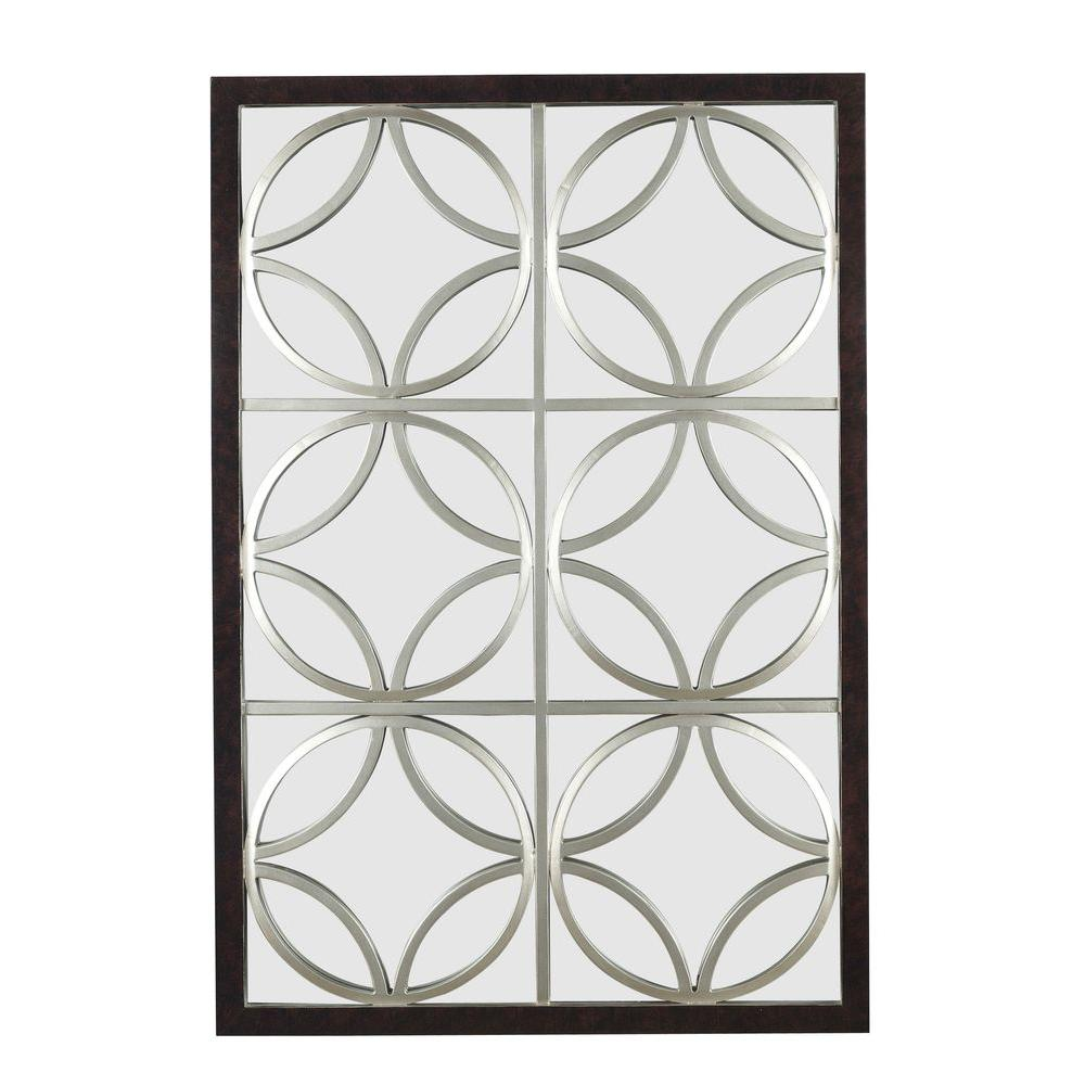 Home Decorators Collection Gable 39 in. H x 26 in. W Polyurethane Framed Mirror