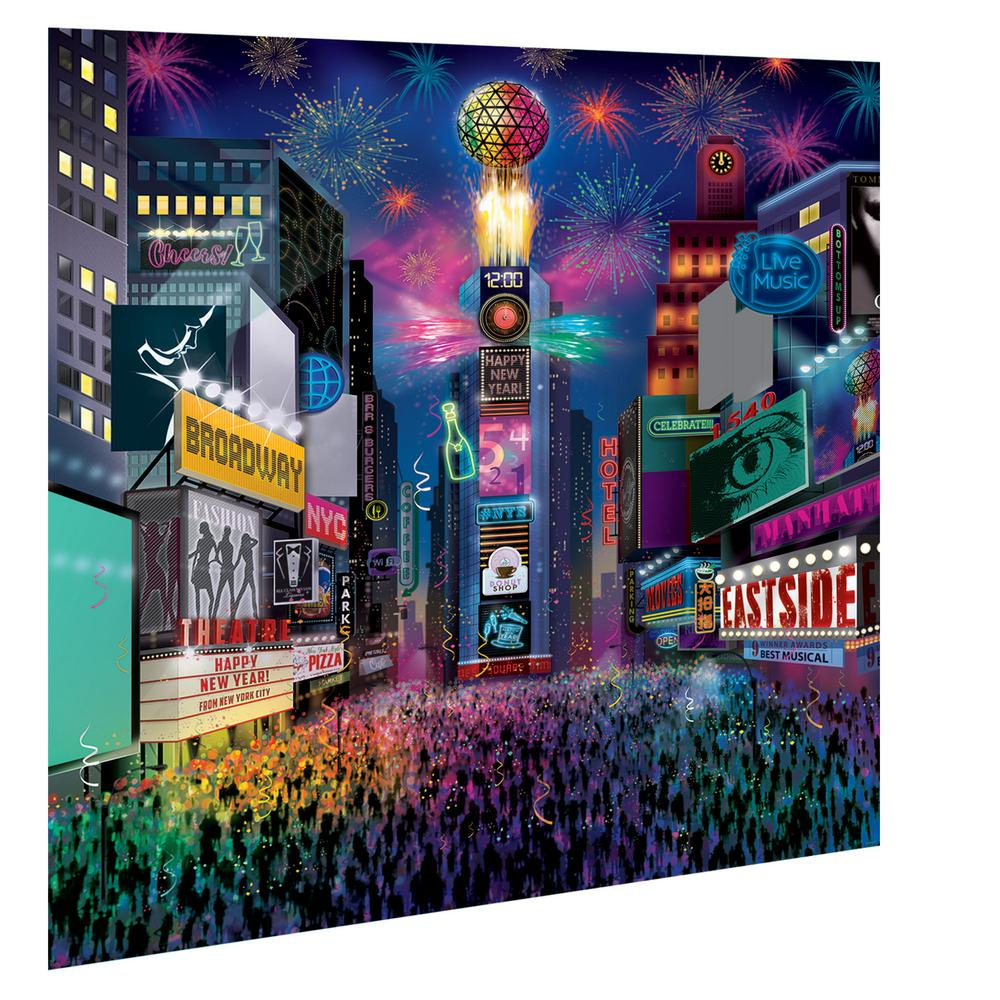New Year's 108.25 in. Deluxe Times Square Scene Setter Ki...