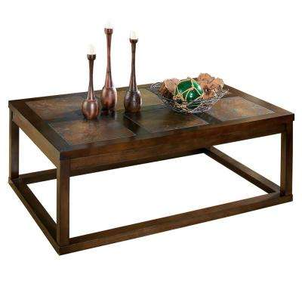 Alberto Brown Oak Cocktail Table