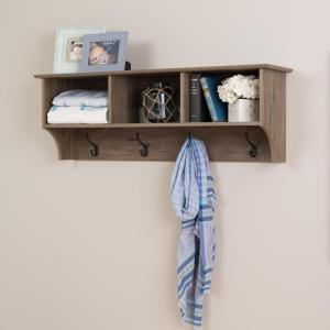 Prepac Drifted Gray Wall Mounted Coat Rack from Racks