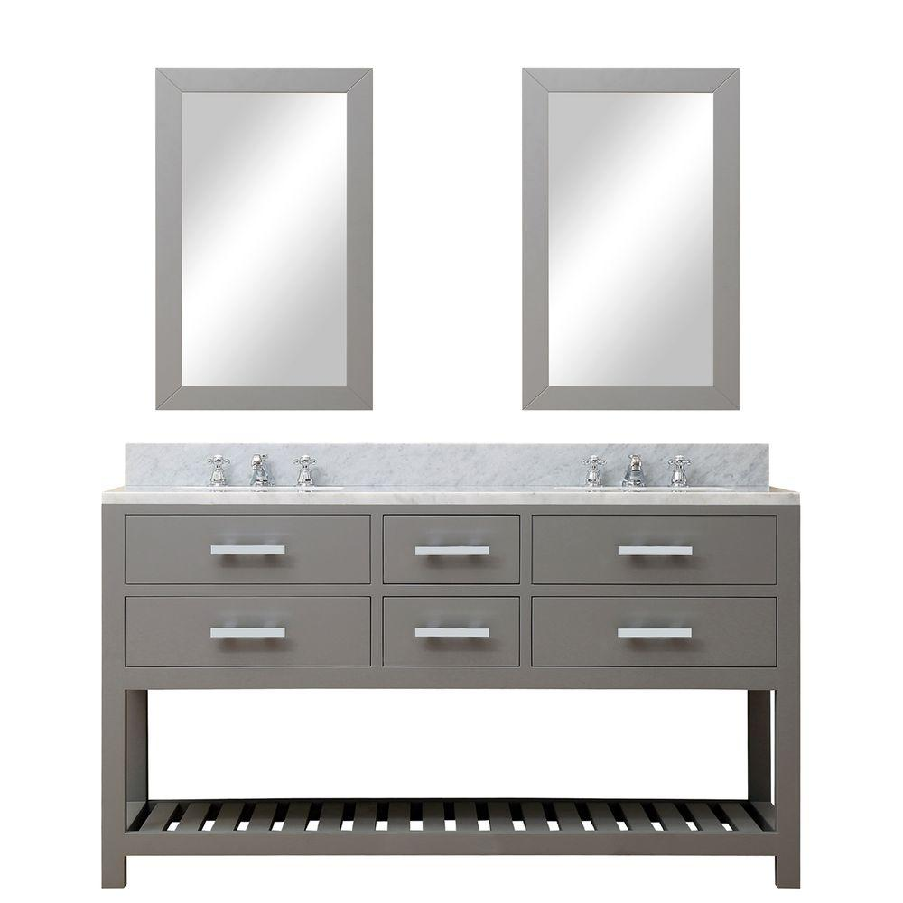 D Vanity in Cashmere Grey with Water
