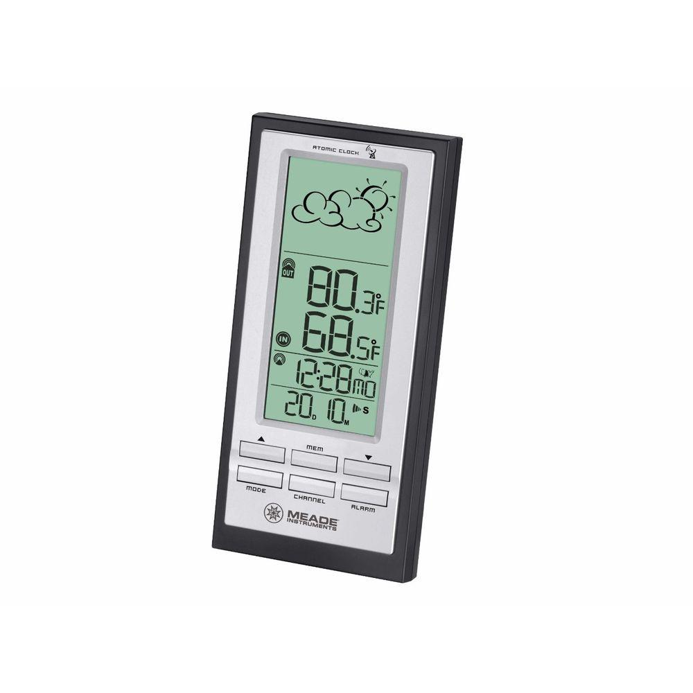 Meade Wireless Personal Weather Station with Atomic Clock and remote TS23C Sensor Meade Wireless Personal Weather Station with Atomic Clock and remote TS23C Sensor