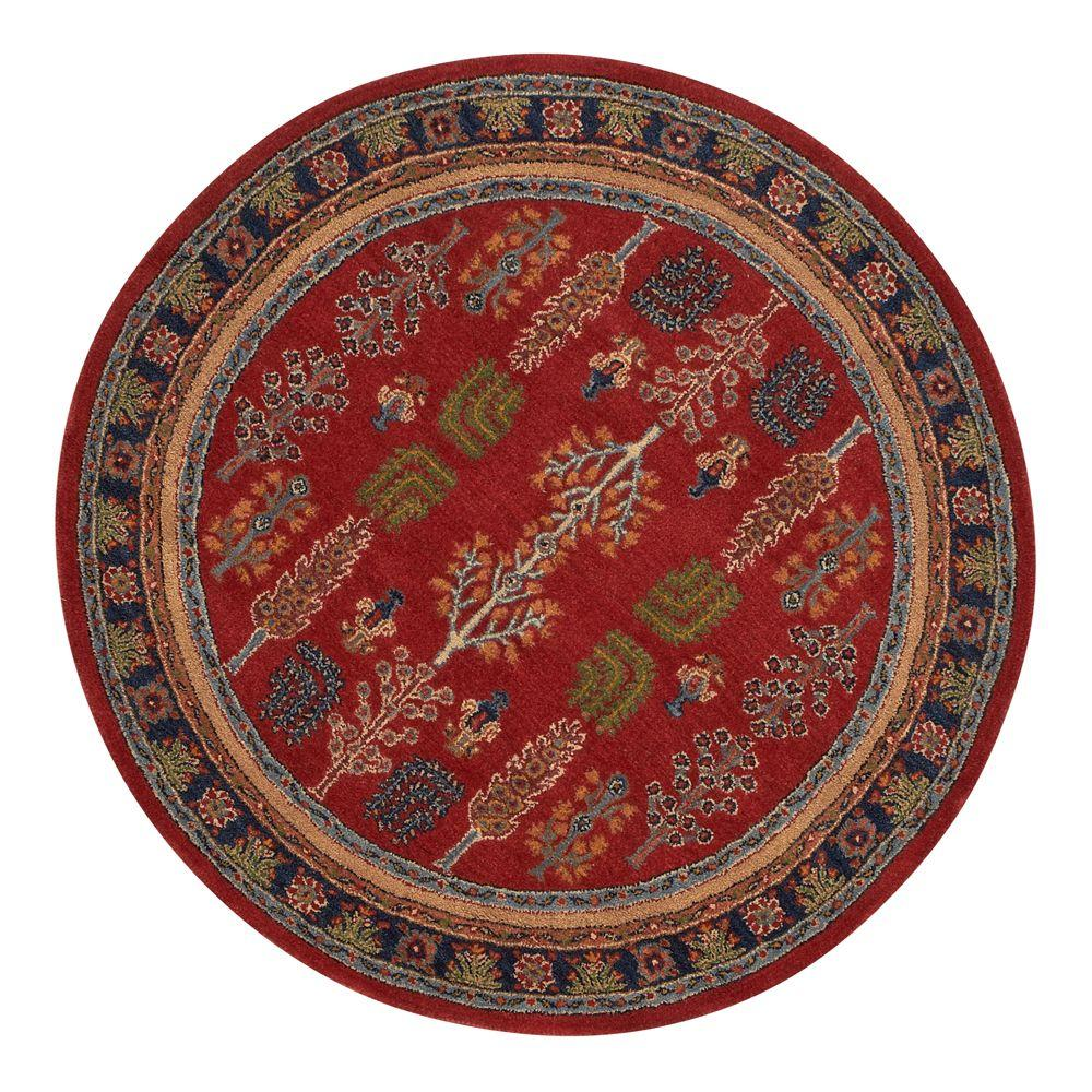 Home Decorators Collection Regency Red 7 ft. 9 in. Round Area Rug