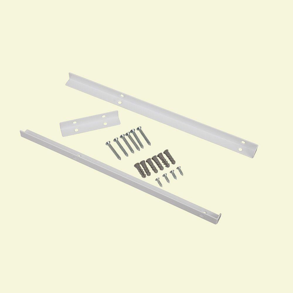ClosetMaid Selectives 14 In White Metal Shelf Support Kit 7040