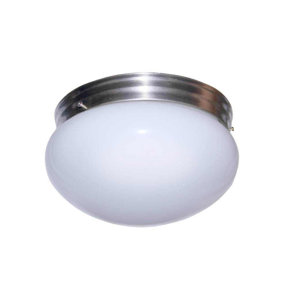 Bel Air Lighting 2-Light Brushed Nickel Flushmount-3620 BN - The ...