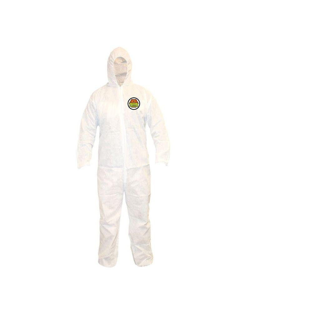 C-MAX Men's XX-Large White Value Pack SMS Coverall with Attached Hood