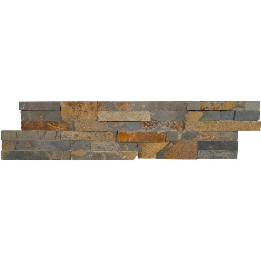 Gold Rush Ledger Panel 6 in. x 24 in. Natural Slate