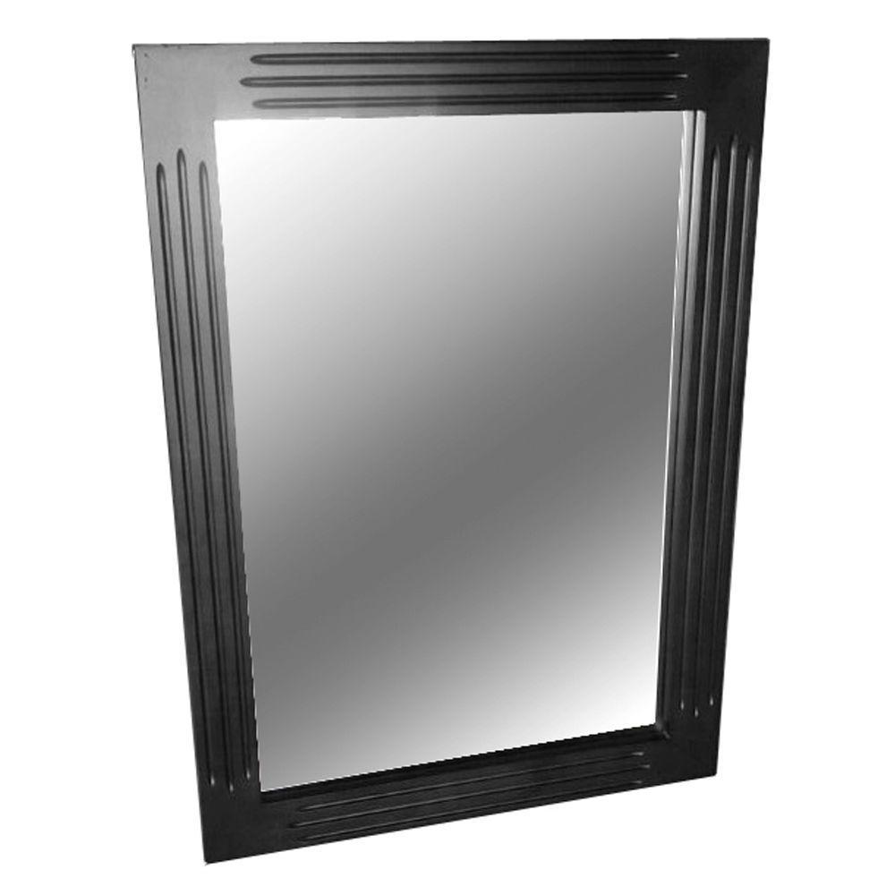 Belle Foret Blaine 30 in. L x 22 in. W Wall Mounted Mirror in Black