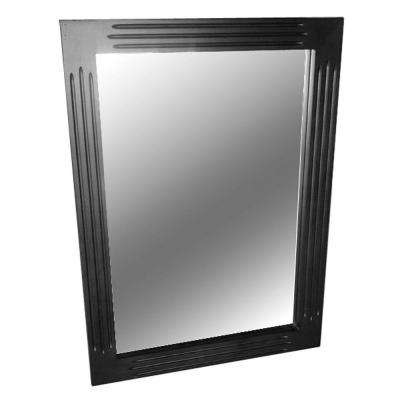 Blaine 30 in. L x 22 in. W Wall Mounted Mirror in Black