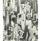 RoomMates 28.18 sq. ft. Black New York City Peel and Stick Wallpaper