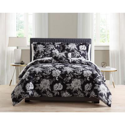 Mhf 8-Piece Black Full/Queen Bed in a Bag Set
