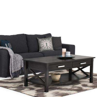 Kitchener Dark Walnut Built-In Storage Coffee Table