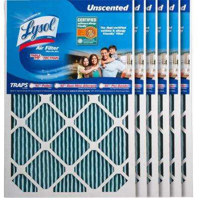 16 in. x 24 in. x 1 in. Certified Asthma and Allergy Triple Protection Air Filter (6-Pack)