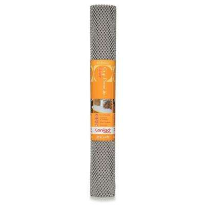 Grip Premium 20 in. x 4 ft. Steel Color Non-Adhesive Thick Grip Drawer and Shelf Liner (6 Rolls)