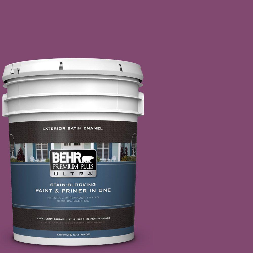 BEHR Premium Plus Ultra 5-gal. #680B-7 Sugar Plum Satin Enamel Exterior Paint