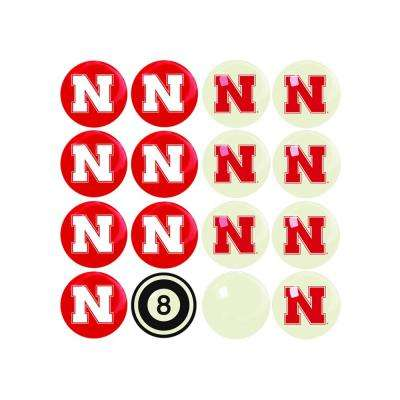 University Of Nebraska Home Versus Away Billiard Ball Set