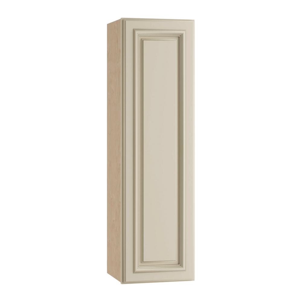 Home Decorators Collection Holden Assembled 12x42x12 in. Single Door Hinge Left Wall Kitchen Cabinet in Bronze Glaze