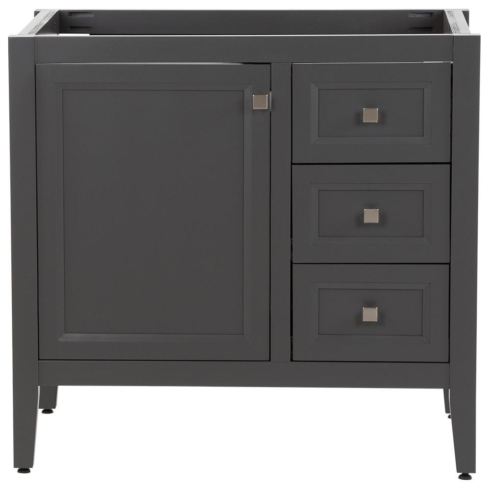 MOEN Darcy 36 in. W x 22 in. D Bath Vanity Cabinet Only in Shale Gray