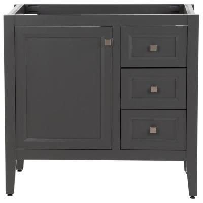 Darcy 36 in. W x 22 in. D Bath Vanity Cabinet Only in Shale Gray