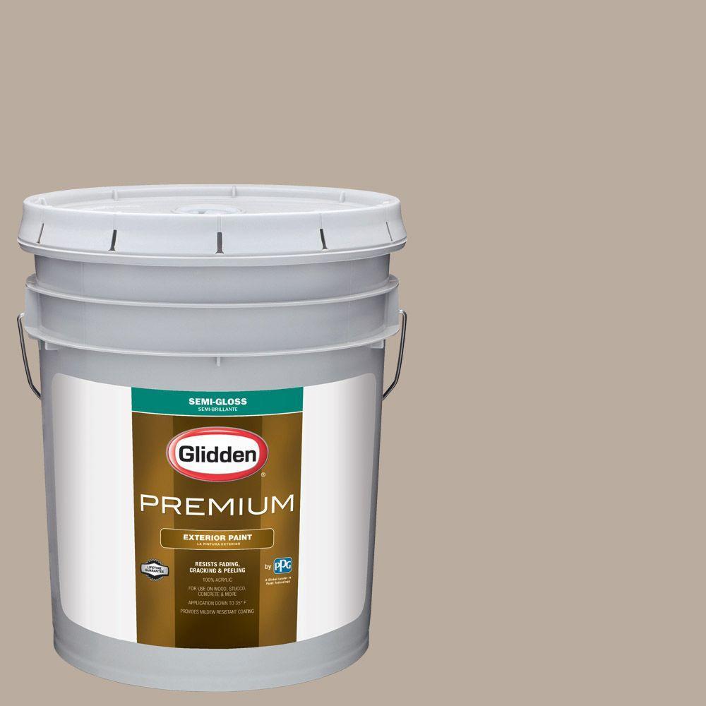 Reviews For Glidden Premium 5 Gal Hdgwn25u Castle Rock Semi Gloss Latex Exterior Paint Hdgwn25upx 05s The Home Depot
