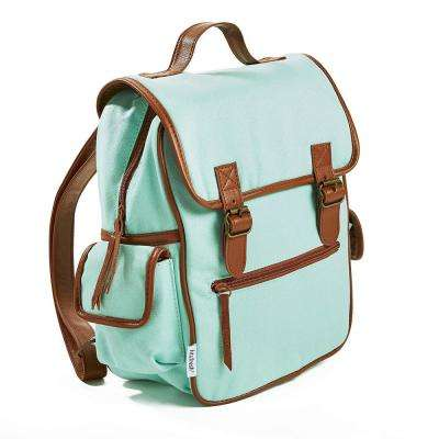 Mini Backpack, Aqua with 2-Buckle Closure