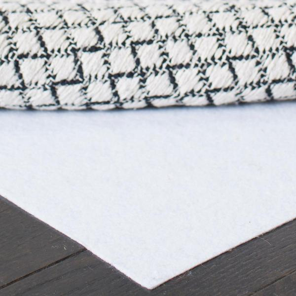 Carpet to Carpet White 4 ft. x 6 ft. Rug Pad