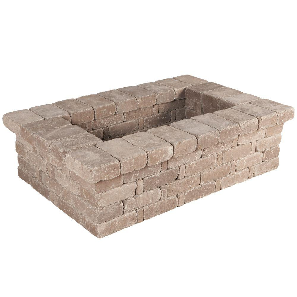 RumbleStone 63 in. x 17.5 in. x 42 in. Rectangle Concrete