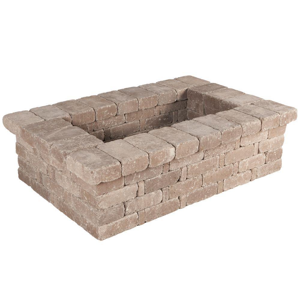 RumbleStone 63 in. x 17.5 in. x 42 in. Rectangle Concrete Planter Kit in Cafe