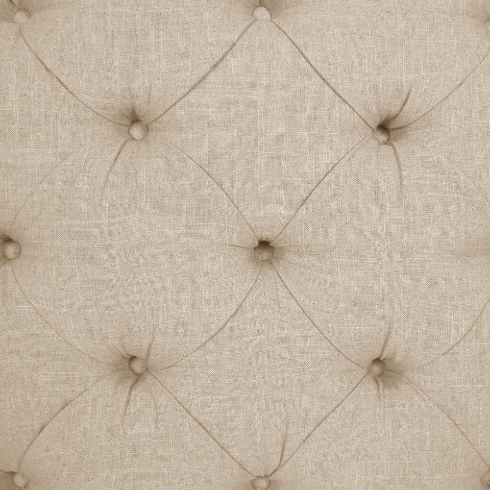 Jones Linen Talc Queen Tufted Notched Bed 632bedlnntlc The Home Depot
