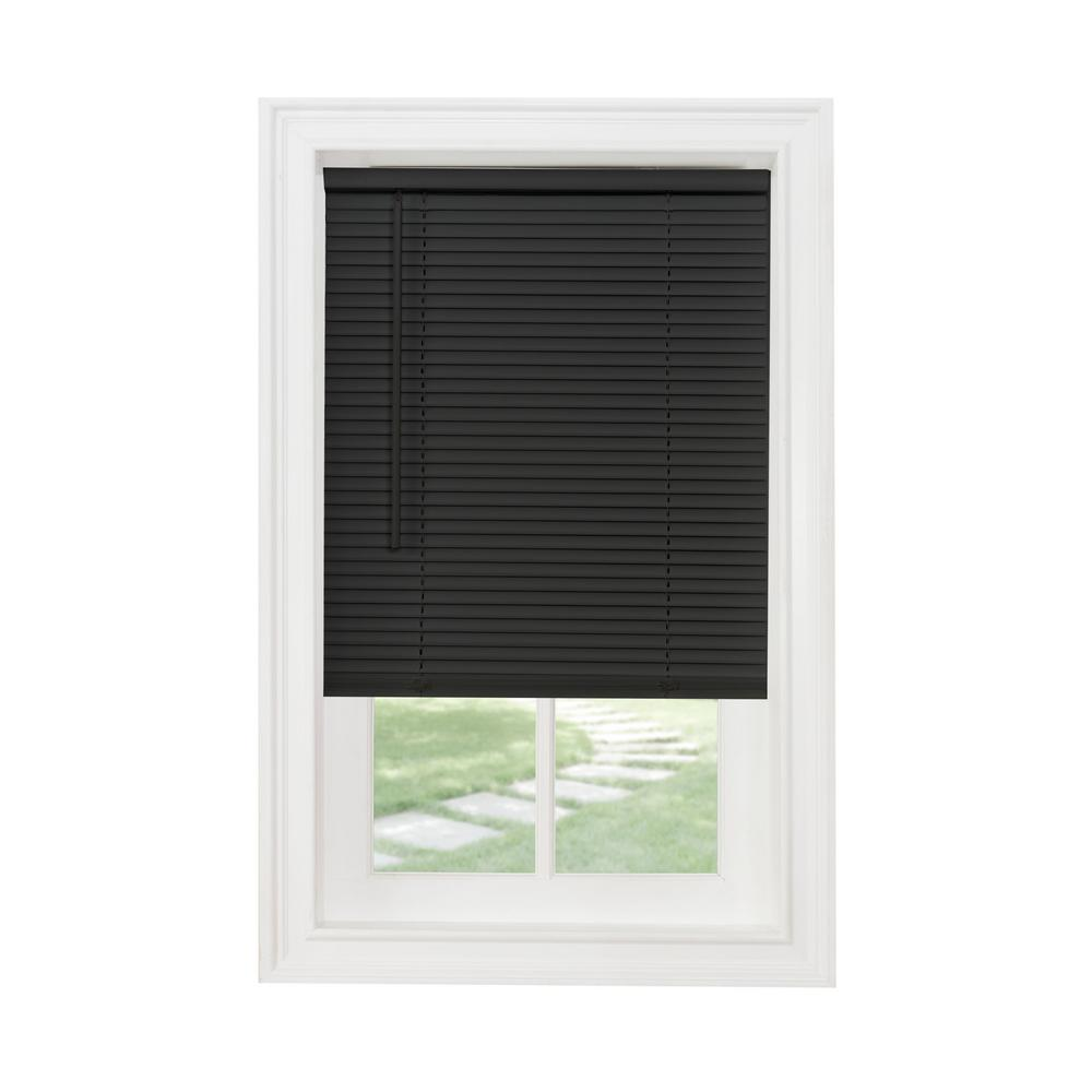 Black 1 in. Vinyl Blind - 30 in. W x 64