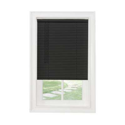 Black Cordless 1 in. Light Filtering Vinyl Blind - 35 in. W x 64 in. L
